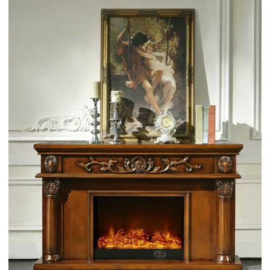 China 8063 Decor Flame Electric Fireplace Wood Design Mantel China