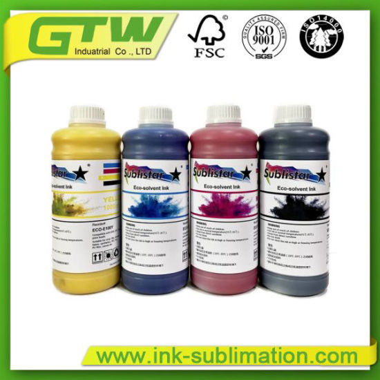 Chinese Sublistar Compatible Eco-Solvent Ink for Epson Printheads