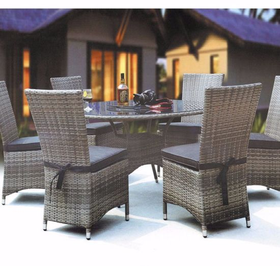 New Item Modern Design Rattan Dining Furniture Table ND Chairs