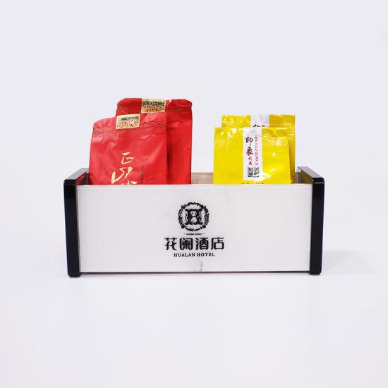 Custom Acrylic Tea Bag Storage Box Holder with Logo Print
