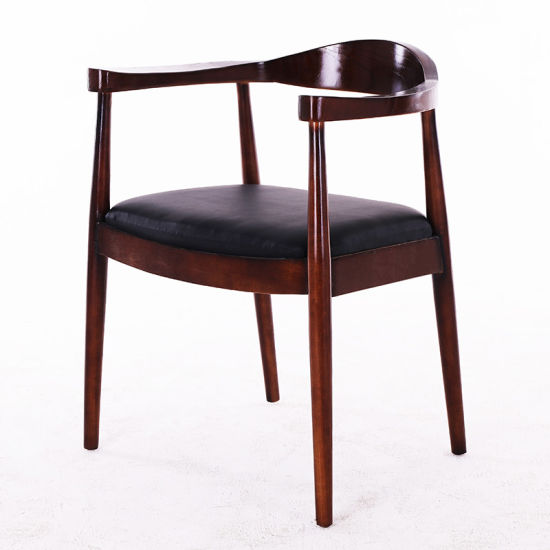 Factory Wholesale Hotel Restaurant Home Living Room Leather Dining Chair
