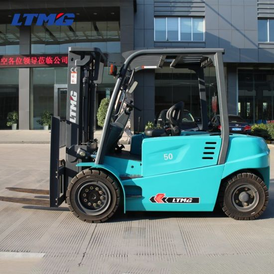 Ltmg 4.5 Ton 5.0 Ton Electric Forklift with Rechargeable Battery