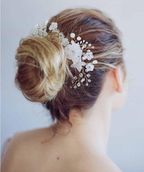 Beautiful Wedding Jewelry White Flowers Elegant Headdress Hair Accessories