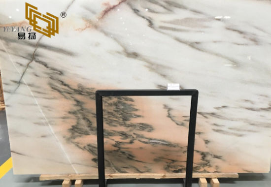 China White Red Blue Green Brown Pink Stone Marble For Bathroom Wall Floor Tile China Building Material Wall Tile