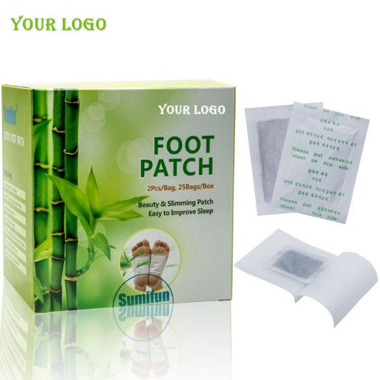 Best Quality 100% Natural Material China Factory Wholesale OEM Detox Foot Patch