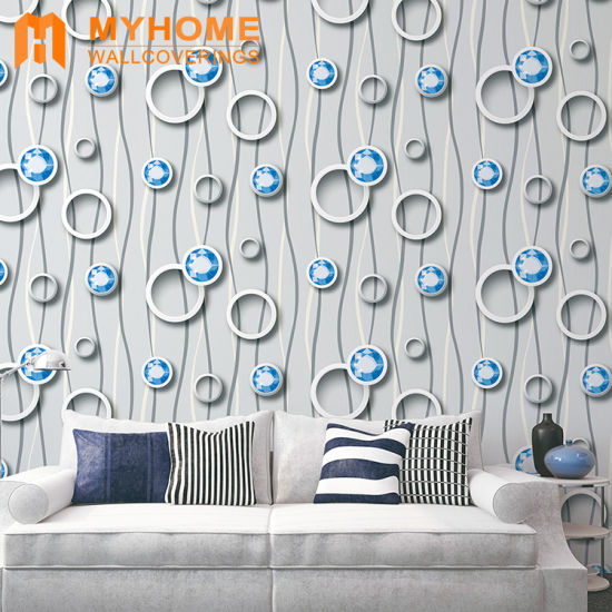 Guangzhou Home Decoration PVC Waterproof 3D Wallpaper with High Quality pictures & photos