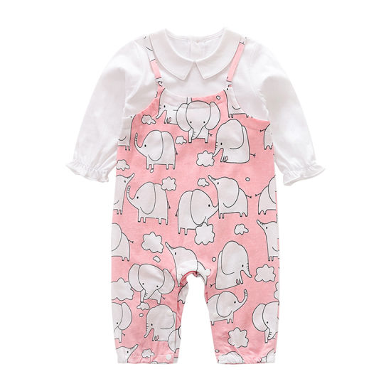 Sweet Baby Girl Romper Clothing Comforable Fabric Overalls Children Clothes
