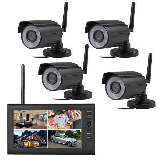 4CH Digital Wireless Camera and DVR System