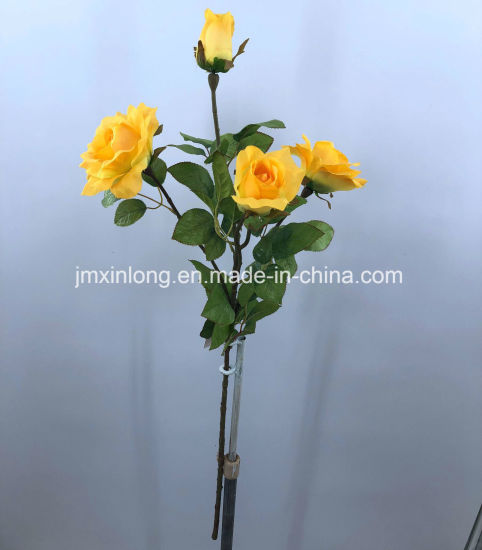 China Artificial Flower Rose Yellow Color For Home Decor China - Which-artificial-flower-colors-are-good-for-a-home