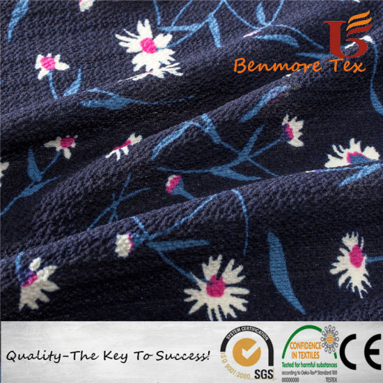 Digital Printed Jacquard Polyester Chiffon Fabric for Garment pictures & photos