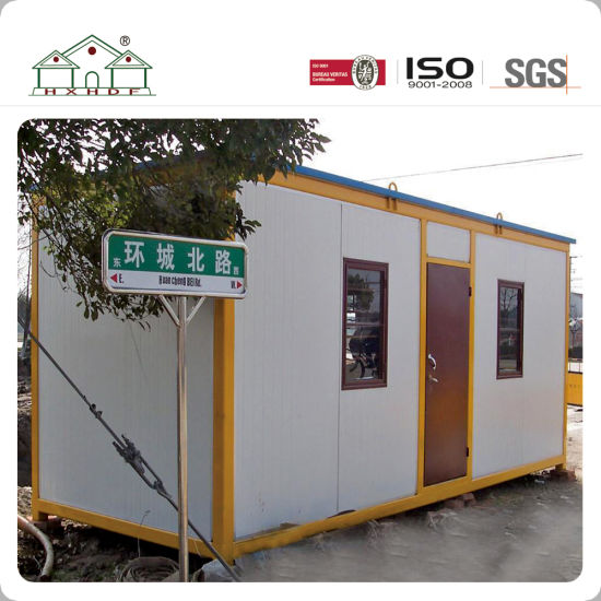 Road Living Homes Yellow Steel Frame Prefabricated Modular Container House