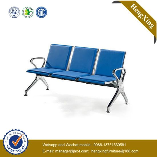 Modern 3 Seats Leather Hospital School Airport Waiting Chair pictures & photos