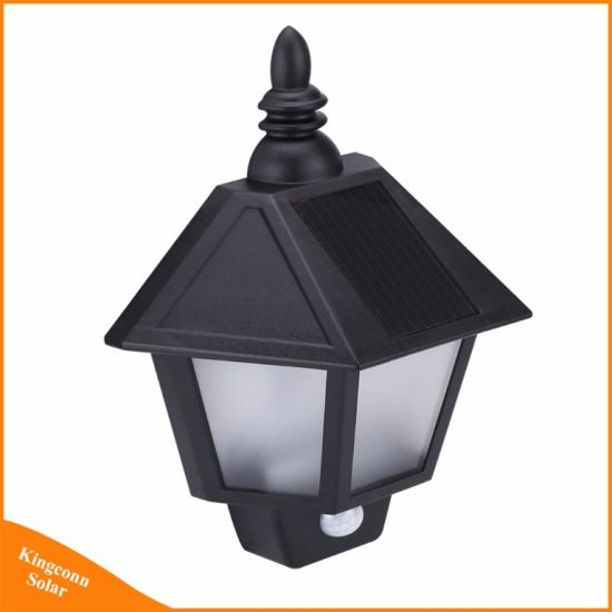 china led solar wall lamp outdoor motion sensor light for door deck