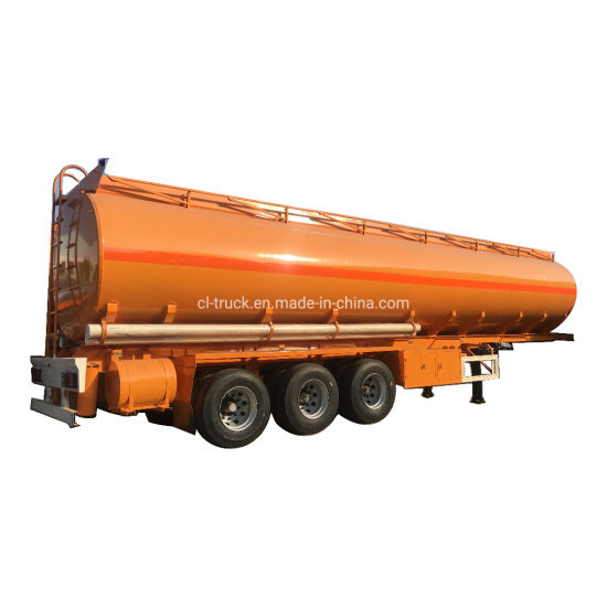 3 Axles 45000liters 50000liters Crude Fuel Tank Trailer with Pump