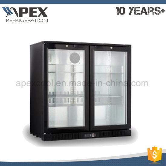 Commercial Store Bottle Beer For Glass Door Under Bar Chiller