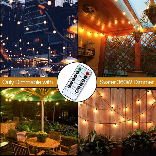 Commercial Grade Patio Lights String