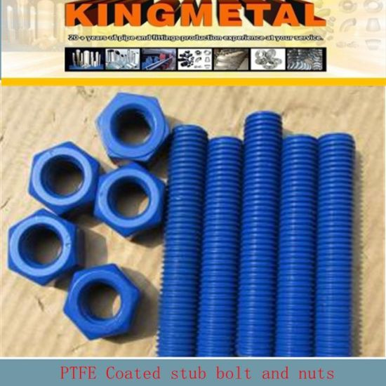 ASTM A193 SA193 B7/ A194 2h Nuts PTFE Teflon Coatting Full Threaded Stud Bolts