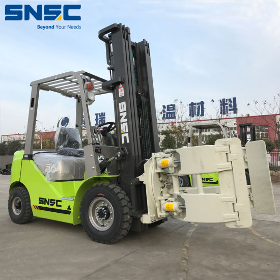 China Diesel Forklift Paper Roll Clamp Forklift with Japan Isuzu Engine
