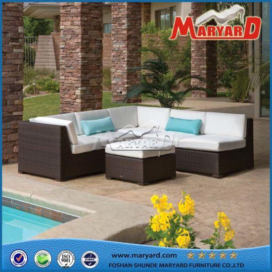 Wholesales Outdoor Furniture Leisure Rattan Sofa Sectional Wicker Sofa