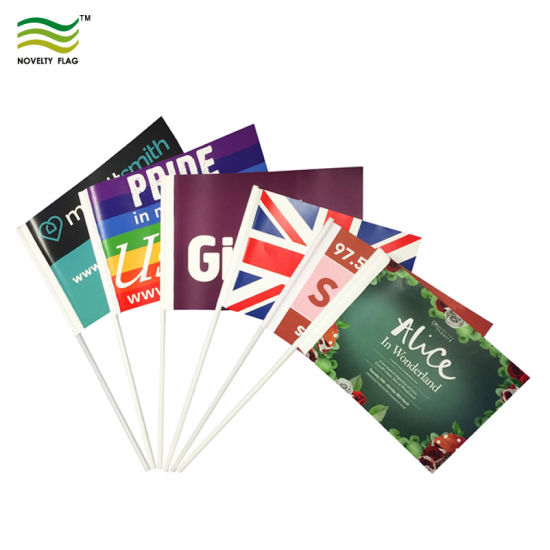 Digital/Screen Printing Cheap Promotion Country Paper Polyester PE PVC Hand Flag pictures & photos