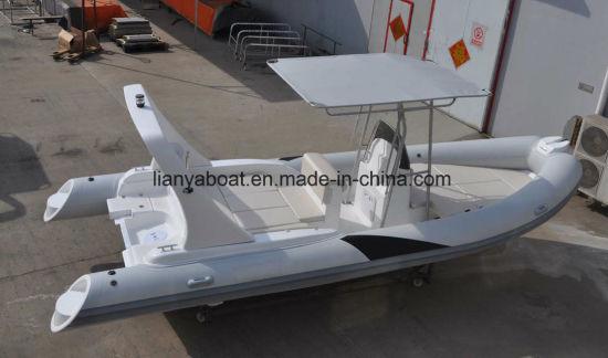 Liya 22FT Steering Console Rib Boat Hypalon Rigid Inflatable Luxury Yacht