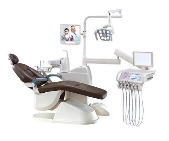 Luxurious Type Imported Upholstery Floor-Fixed China Dental Equipment Unit, Medical Equipment Suppliers (GD-S450) pictures & photos