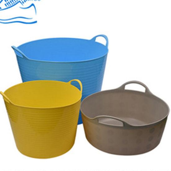 Multi-Function Plastic Flexible Storage Bucket with Handles