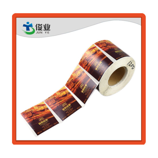 Custom Made Self Adhesive Full Color Printed Label for Glass Bottle pictures & photos