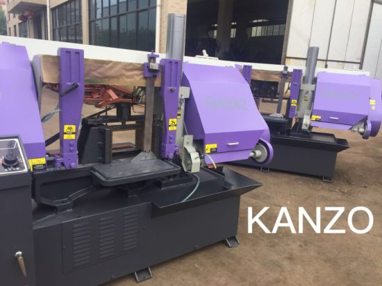 Kanzo Mitre Band Saw in Semi-Automatic Horizontal Cutting in Degree pictures & photos