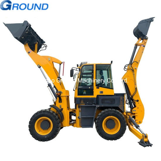 Construction equipment mini backhoe loader for earth moving , for digging with good price