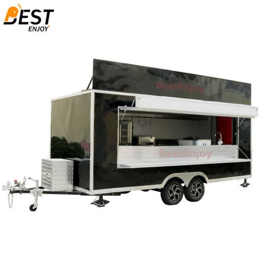 16 4*6 89FT Outdoor Mobile Street Fast Food Kiosk Design
