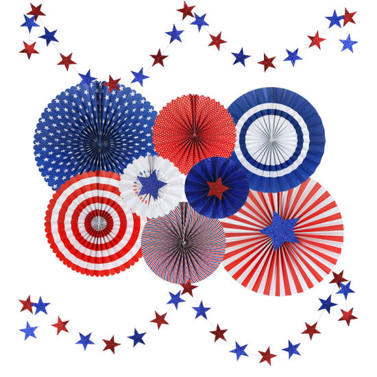 China Umiss Paper Craft Fan Independence Day Holiday Decoration