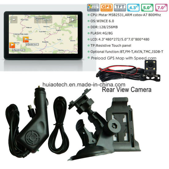 Cheap 7.0inch Car Truck Wince GPS Navigation with Cortex A7 800MHz, Dash GPS Navigation, AV-in Dash Parking Camera, Bluetooth Handsfree, ISDB-T TV, 8GB pictures & photos