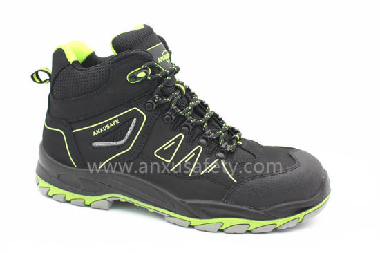 New Mould Middle Cut PU Rubber Non Metel Ce Certification Safety Shoes Ax02002