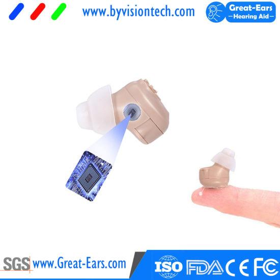 Digital Hearing Aid Device in Ear Cic Mini Earsmate Hearing Aid for Hearing Health Care
