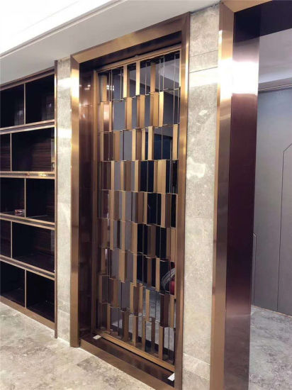 China Interior Partition Wall Living Room Divider Stainless Steel Screens For Luxury Villa Decoration China Room Divider And Restaurant Panels Or Dividers Price