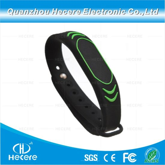 Long Range 13 56MHz NFC Wristbands/Silicone Waterproof RFID  Wristband/Ntag203 Chip NFC Bracelets