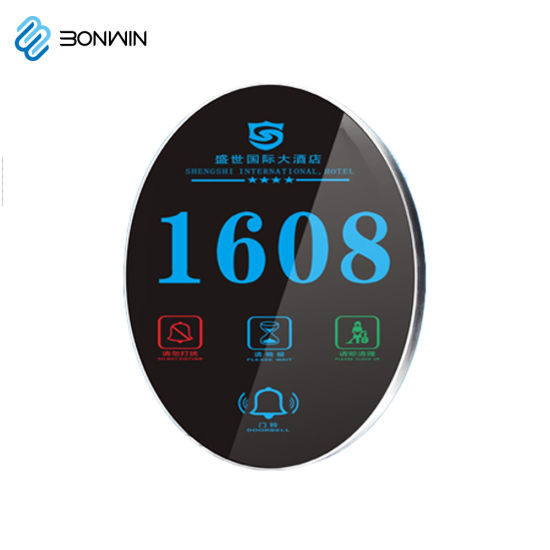 Electronic Stainless Steel Hotel/House Room Door Number Plates