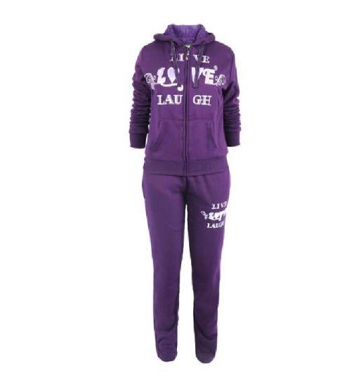Fashion Custom 100% Polyester Warm Girls Tracksuit