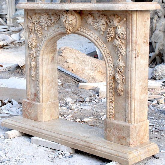 China Antique Stone Fireplace Mantel