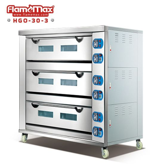 3 Deck 9 Trays Gas Baking Oven Deck Oven Baking Machine Commercial Bakery Equipment Pizza Oven Bread Oven