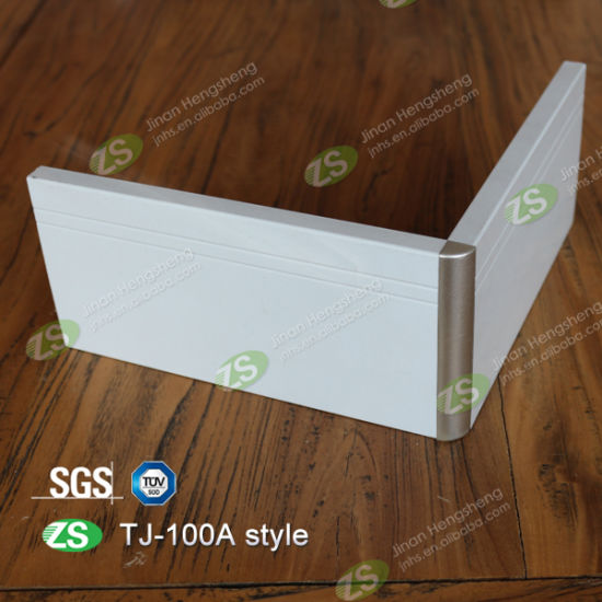 High Quality Curved Wall Protection Sliver Skirting Board Baseboard pictures & photos