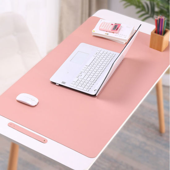 Custom Colorful Black Double Sided Anti-Slip Suede Fake PU Leather Office Keyboard and Mouse Pad