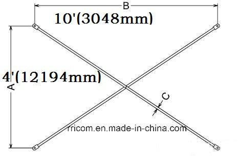 10'x3' Galvnized Cross Braces for Scaffold Frames