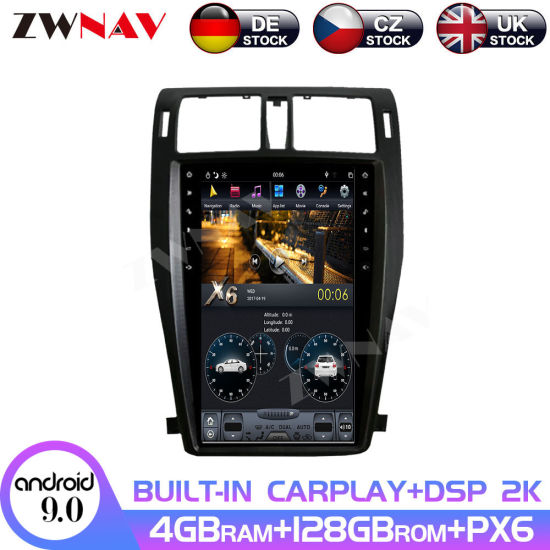 128GB Android 9.0 Car Radio GPS Navigation for Toyota Crown 13th 2009 - 2014 Tesla Style Multimedia Player Auto Stereo Head Unit