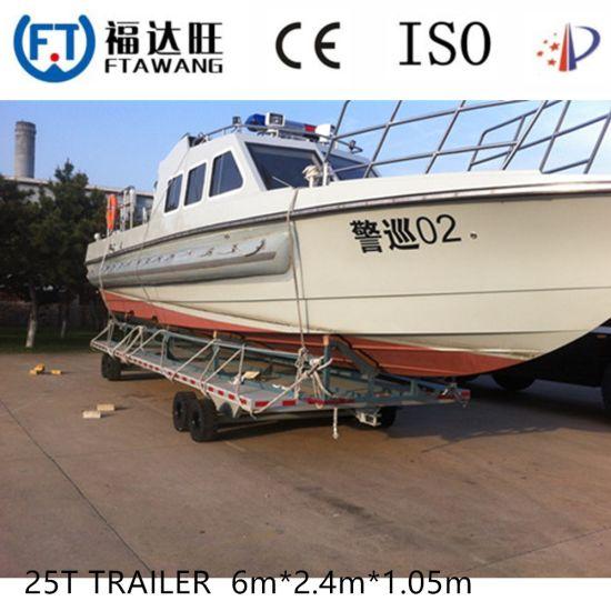 Heavy Duty Double Axles Boat Trailer with Roller