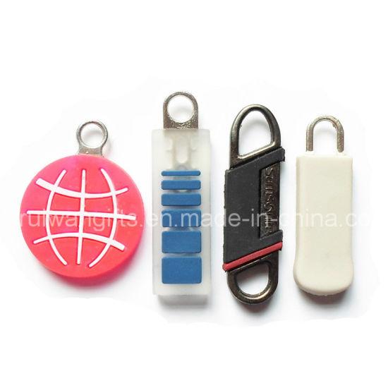 Custom PVC Rubber Zipper Puller for Clothing