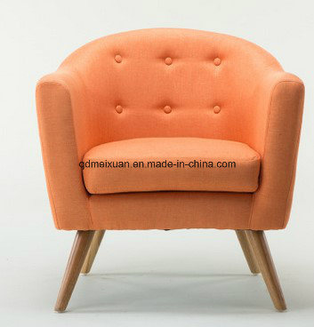 European Contracted and Contemporary New High-End Leisure Furniture Solid Wood Single Cloth Art Sofa Seats (M-X3393)