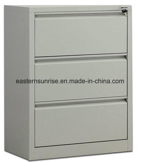 3 Drawer Metal Storage Cabinet Office Use Steel Movable