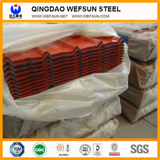 Waterproof Painted Corrugated Steel Roofing Sheets Panel pictures & photos
